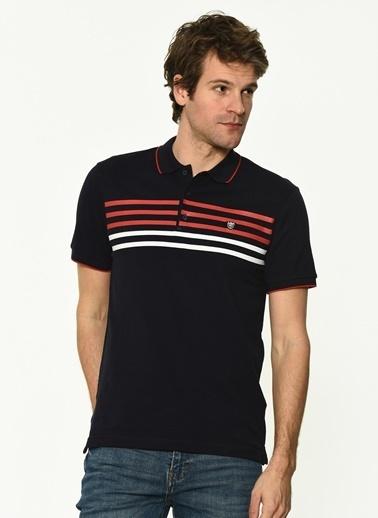 George Hogg Erkek 7004652 Slim Fit Tshirt Lacivert